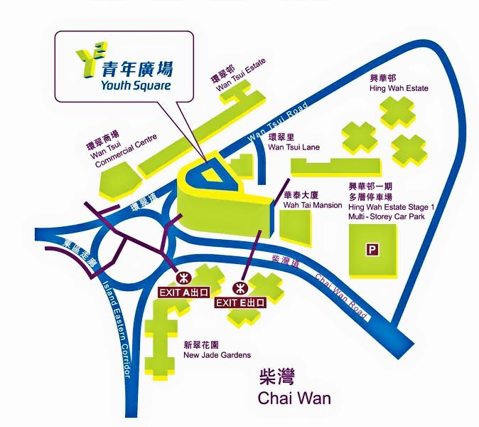 柴湾小区实景地图